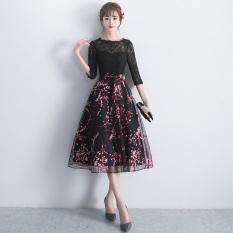 Toko Gaun Elegan Musim Panas Wanita Hitam Hitam Murah Di Tiongkok