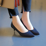 Promo Elegan Suede Hitam Perempuan Menunjuk Profesi Sepatu Merah Sepatu Hak Tinggi Biru Sepatu Wanita High Heels Sepatu Wanita Wedges