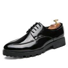Elegan Sepatu Baju Pria Shadow Paten Leather Fashion Pria Oxford Sepatu-Intl
