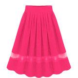 Elegant Organza Silk Pleated Skirts Fabric Splicing Skirt Terbaru