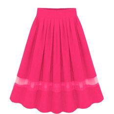 Jual Elegant Organza Silk Pleated Skirts Fabric Splicing Skirt Oem Grosir