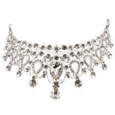 Jual Rambut Elegan Berlian Imitasi Kristal Tiara Mahkota Perhiasan Pengantin Pernikahan Kontes Prom Intl Termurah