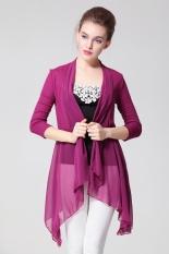 Toko Jual Elegan Musim Panas Wanita Wanita Lengan Panjang Sun Protective Knitting Tops Cardigan Tipis Blouse Coat Shirt Intl