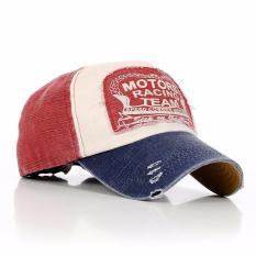 AIUEO Topi Pria Wanita Baseball Golf Katun Unisex Vintage Headpiece Motor  Racing Team 832e515a65