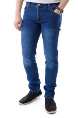 Jual Elfs Shop Celana Jeans Panjang Soft Jeans Pocket 189 Biru Tua Di Dki Jakarta