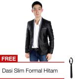 Toko Elfs Shop Jas Blazer Slimfit 6857 Hitam Metalic Free Dasi Slim Online