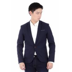 Toko Elfs Shop Jas Casual Wool Kantong List 1607 Biru Dongker Yang Bisa Kredit