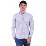 Cuci Gudang Elfs Shop Kemeja Fashion Panjang Pria Slim Fit Casual Shirt Oxford Misty 3Y1701 Putih
