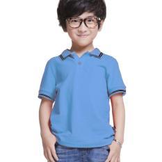 Elfs Shop - Poloshirt Anak Laki Laki Simple Abu Muda