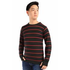 Harga Elfs Shop Sweater Rajut Hangat Nusim Dingin Ariel Stripe Hitam Original