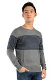 Jual Elfs Shop Sweater Rajut Pria Stripe Abu Tua Online