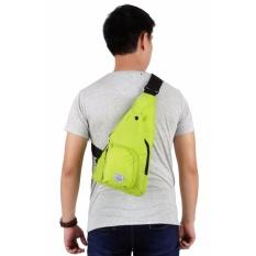 Jual Elfs Shop Tas Ransel Selempang Backpack Sling 70 Logo Polyester Hijau Stabilo Satu Set