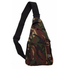 Jual Elfs Shop Tas Selempang Pria Men S Sling Crossbody Shoulder Bag Polyester Hijau Army Branded Original