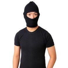 Elfs Shop - Topi Kupluk Ninja-Hitam