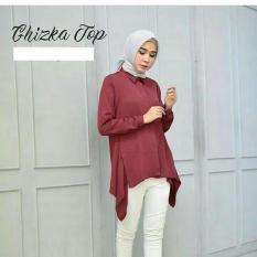 Elia Atasan Baju Panjang TREND Masa Kini Warna Warni Untuk Hijab