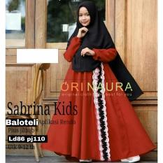 Elia Baju Gamis Brukat Untuk Anak 9-12thn   Terbaru Wanita  Fashion