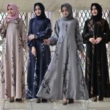 Beli Elia Gamis Motif Bunga Bunga Long Dress Muslim Atasan Wanita Fashion Premiun Quality Allsize Warna Pink Hitam Nevy Dan Abu Abu Murah