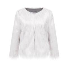 Spesifikasi Elife Fashion Luxury Warm Ladies Coat Short Feather Jacket Women Faux Fur Winter Overcoat White Intl Terbaru