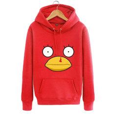 Elizabeth Remaja untuk Pria atau Wanita Jaket Musim Semi Indonesia Ngumpul Di Sini Sweater Sweter Tanpa Kancing Sweater (Merah)