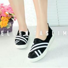 Harga Ellen Taslim Mu 01 Sneakers Slip On Stripe X Line Ellen Grosir Ori