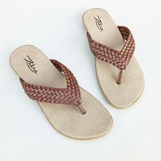 Ellen Taslim Sandal Jepit Anyam - Coklat