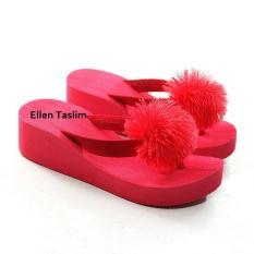 Ellen Taslim SPN.05 - Sandal Jepit Spon Pompom Dewasa Size 36 s.d 40