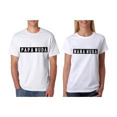 Jual Ellipses Inc Tumblr Tee T Shirt Kaos Couple Mama Papa Putih Lengan Pendek Grosir