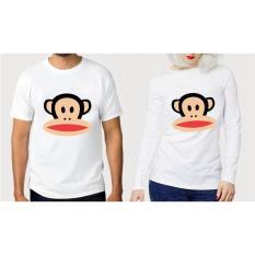 ELLIPSES.INC Tumblr Tee / T-Shirt / Kaos Couple Paul Frank - Putih Lengan Panjang
