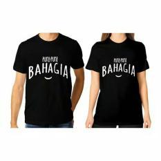 Jual Ellipses Inc Tumblr Tee T Shirt Kaos Couple Pura Pura Bahagia Hitam Lengan Pendek