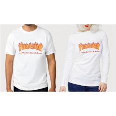 ... T-Shirt \\u002F Kaos Wanita Lengan Panjang Thrasher Warna PutihIDR76000. Rp 79.799