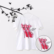 ELLIPSES.INC Tumblr Tee / T-Shirt / Kaos Wanita Heels Christian Louboutin - Putih