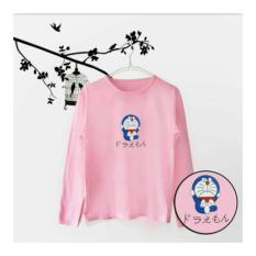 ELLIPSES.INC Tumblr  Tee / T-Shirt / Kaos Wanita Lengan Panjang Doraemon - Pink