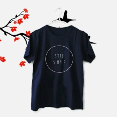 ELLIPSES.INC Tumblr  Tee / T-Shirt / Kaos Wanita Stay Simple - Navy