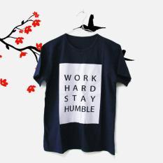 ELLIPSES.INC Tumblr  Tee / T-Shirt / Kaos Wanita Work Hard Stay Humble - Navy