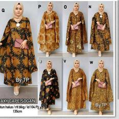 Jual Elmira Baju Batik Kaftan Cape Panjang Promo Import