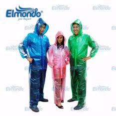Toko Elmondo Jas Hujan Setelan Transparan Pink Elmondo Online