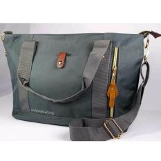 Review Eloria Promo Tas Wanita Traveling Casual Selempang Fashion Shopping Tote Bag Korean Import Black Smoke Grey Abu Abu Tua Terbaru