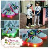 Elv Sepatu Anak Led Rainbow Sepatu Nyala Black Size 22 Indonesia Diskon 50
