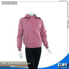 Jual Elwa Edisi 2 Jaket Motor Jaket Harian Wanita Anti Angin Waterproof Original Pink Oem Grosir