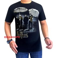 Ema Shope - Kaos Distro T-Shirt Distro Atasan Pria Fashion Cotton Combed 30s Baju Distro Keren Cowok CewekT-Shirt 3D Terbaru Kekinian Animasi Seni Kata Gambar The Beatles Berpayung Group Music Pop Rock Penyanyi Kaos Distro Modis Keren Bagus - Kaos Hitam