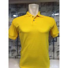 Ema Shope - Kaos Polo Shirt Polos M L XL Lengan Pendek Baju Kaos Kerah Pakaian Berkerah Atasan Pria Wanita Cowok Cewek Lacos Pique Fashion Simple Keren Simple Formal Casual Elegan Korean Bagus Murah  - Kuning