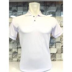 Ema Shope - Kaos Polo Shirt Polos M L XL Lengan Pendek Baju Kaos Kerah Pakaian Berkerah Atasan Pria Wanita Cowok Cewek Lacos Pique Fashion Simple Keren Simple Formal Casual Elegan Korean Bagus Murah  - White