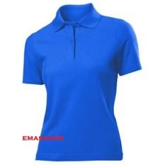 Ema Shope - Kaos Polos Polo Shirt S M L XL Lengan Pendek Baju Pakaian Olahraga Kaos Kerah Atasan Wanita Pria Cewek Cowok Lacos Pique Fashion Keren Nyaman Bagus Adem Simple - Biru Benhur