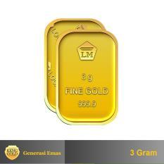 Harga Gold Emas 3 Gram Logam Mulia 999 9 Sertifikat Antam Authorized Seller Di Dki Jakarta