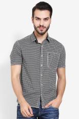 Emba Jeans  Men Clothing Shirts Formal Shirts  Pria Pakaian Shirts Shirts Formal Black Hitam Diskon discount murah bazaar baju celana fashion brand branded