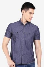 Emba Jeans  Men Clothing Shirts Formal Shirts  Pria Pakaian Shirts Shirts Formal Grey Abu-abu Diskon discount murah bazaar baju celana fashion brand branded