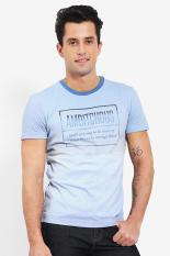 Emba Jeans T Shirts Amado Sky Blue Diskon discount murah bazaar baju celana fashion brand branded