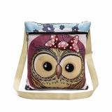 Dapatkan Segera Bordir Owl Tote Bags Tas Bahu Wanita Tas Postman Paket Intl