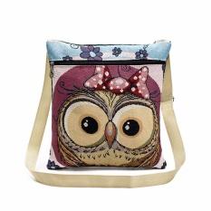 Diskon Bordir Owl Tote Bags Tas Bahu Wanita Tas Postman Paket Intl Akhir Tahun