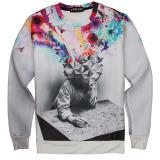 Spek Emoji Men T Shirt Lengan Panjang Athletic Sweatshirt 10 L Oem